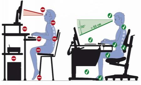 Правильно сидеть за компьютером