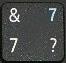 цифра 7 при включенном режиме NumLock.