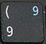 цифра 9 при включенном режиме NumLock.