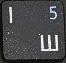 цифра 5 при включенном режиме NumLock.