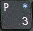 символ «*» при включенном режиме NumLock.