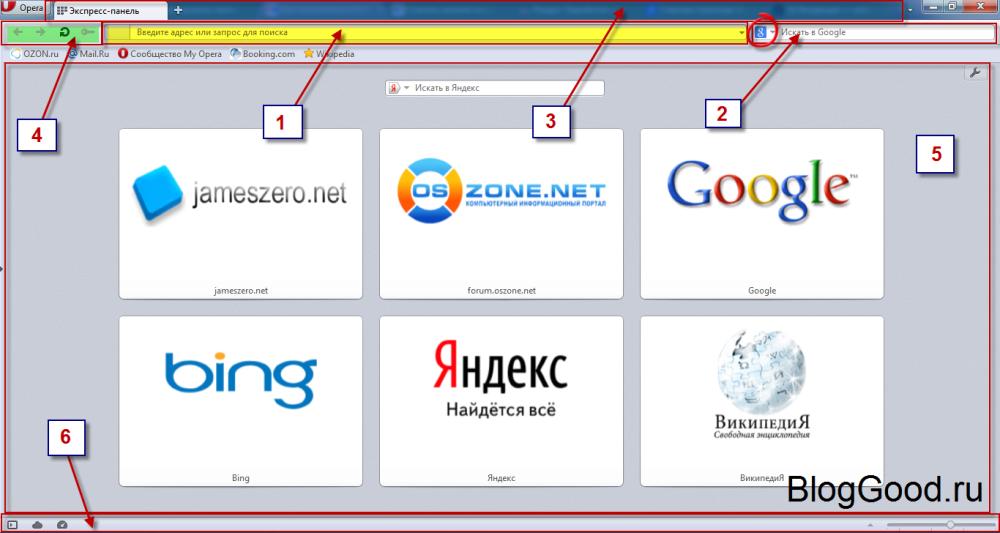 Как пользоваться браузером Opera.