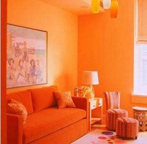Теплые цвета - оранжевый