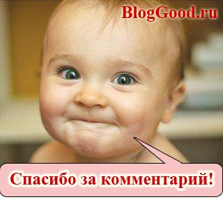 Создать на блоге страницу «Спасибо за комментарий!»