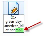 Как поменять расширение файла Windows7.