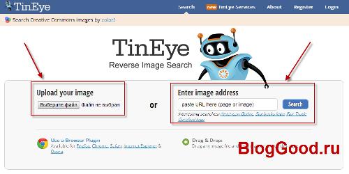 Как проверить уникальность картинки с помощью TinEye?