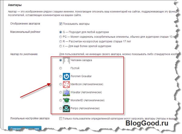Как добавить новый аватар в настройки обсуждения WordPress