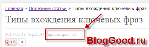Выводим количество просмотров страницы на WordPress