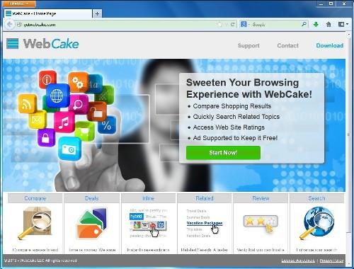 Удалите WebCake