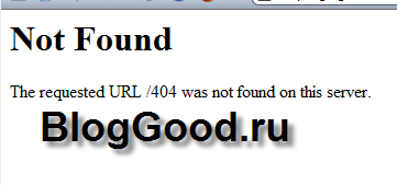 Not Found The requested URL /404