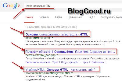 Операторы поиска Google (Гугл)