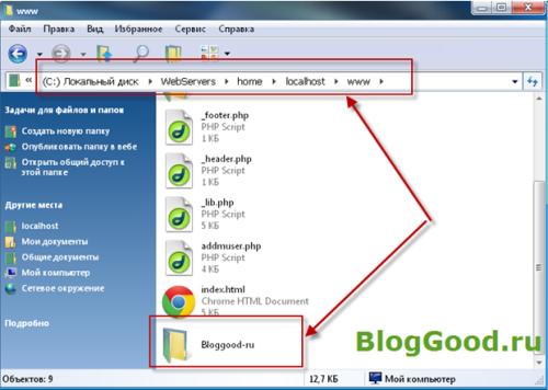 Куда заливать файлы сайта в Денвер (Denwer)