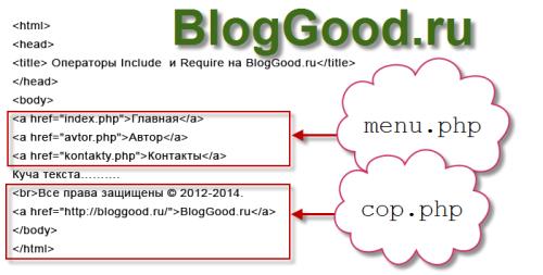 Подключение сторонних файлов на PHP через Include или Require. Урок 14