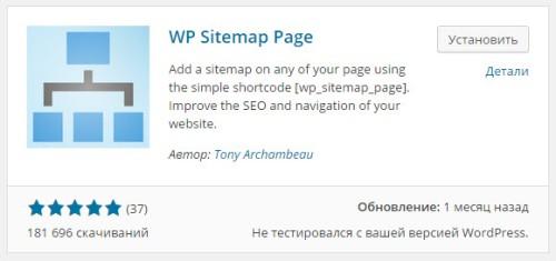 Html-карта сайта для WordPress с помощью плагина WP Sitemap Page