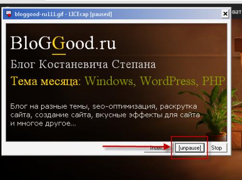 LICEcap – программа для захвата экрана в gif