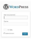Форма входа для сайта (блога) на WordPress