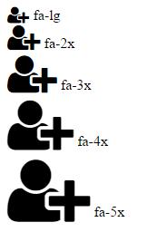 Как увеличить иконки шрифта Font Awesome на Bootstrap?
