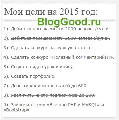 Итог работы за 2015 год!