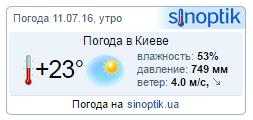 Готовый код погоды на сайт (информер)