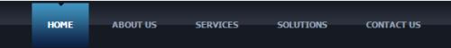 Темно синее горизонтальное CSS меню