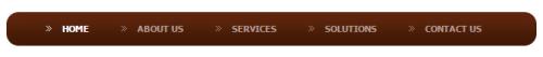 Красивое коричневое меню закругленными углами