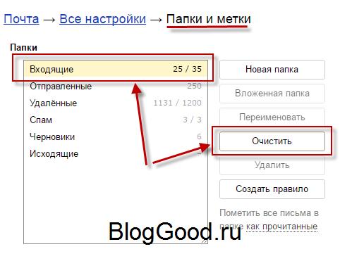 Как удалить все письма с Яндекс почты одним махом