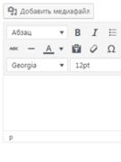 Как добавить визуальный редактор для «Цитат (Отрывок)» - WordPress ?